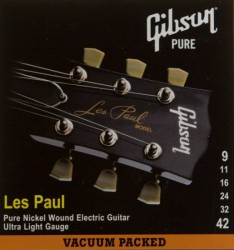 GIBSON SEG-LP9 LES PAUL PURE NICKEL WOUND .009-042