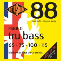 ROTOSOUND RS88LD BLACK NYLON FLATWOUND BASS STRINGS