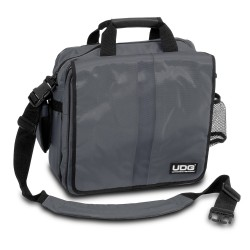"UDG Ultimate CourierBag DeLuxe 17"" Steel Grey, Orange inside"