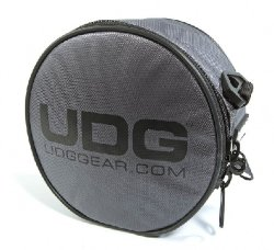 UDG Ultimate Headphone Bag Steel Grey/Orange inside