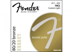 FENDER STRINGS NEW ACOUSTIC 70CL 80/20 BRONZE 11-50