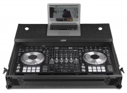 UDG Ultimate Flight Case Pioneer DDJ-RZ/SZ2 Black MK2 Plus (Laptop Shelf + Wheels)