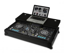 UDG Ultimate Flight Case Pioneer XDJ-RX2 Black MK2 Plus (Laptop shelf + Wheels)